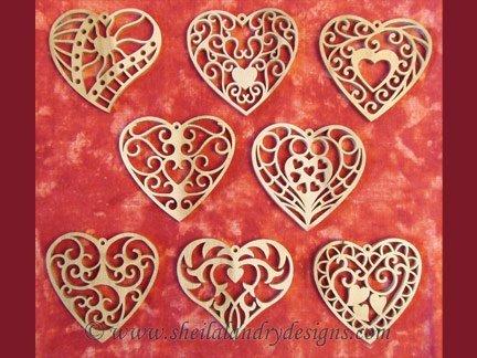 Scroll Saw Heart Ornaments Pattern