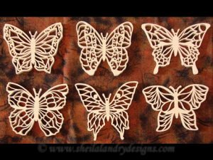 Filigree Scroll Saw Butterfly Ornaments Pattern