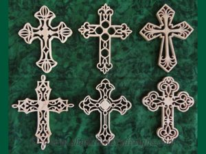 Scroll Saw Cross Ornaments Pattern