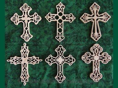 Scroll Saw Cross Ornaments Pattern