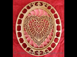 Filigree Scroll Saw Heart Pattern