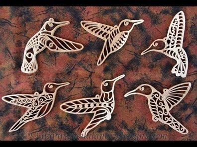 Scroll Saw Hummingbird Ornaments Pattern