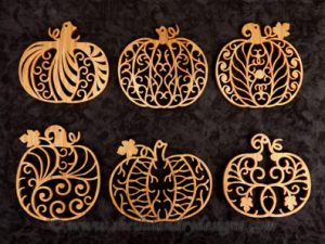 Filigree Scroll Saw Pumpkins Pattern
