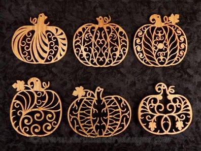 Filigree Scroll Saw Pumpkins Pattern
