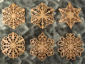 Filigree Scroll Saw Snowflake Ornaments Pattern