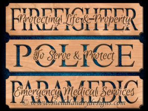 Firefighter Police Paramedic Scroll Saw Pattern