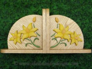 Floral Bookends Scroll Saw Pattern