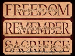Freedom Remember Sacrifice Scroll Saw Patterns