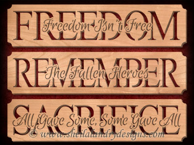 Freedom Remember Sacrifice Scroll Saw Patterns