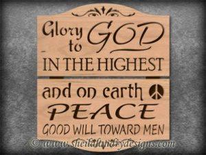 Glory To God Scroll Saw Pattern