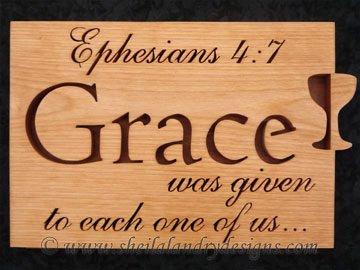 Grace Scroll Saw Bible Passage Pattern
