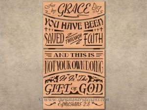 Grace Scroll Saw Bible Verse Pattern