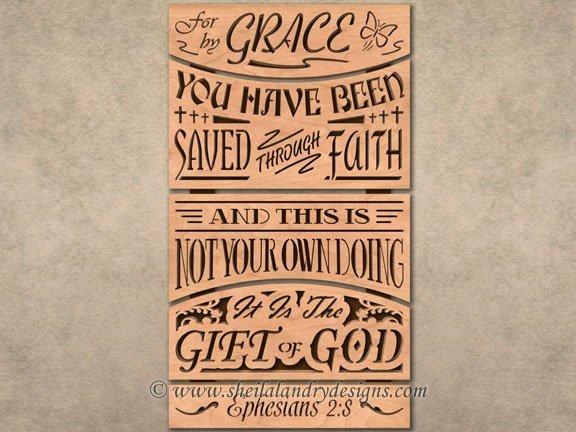 Grace Scroll Saw Bible Verse Pattern