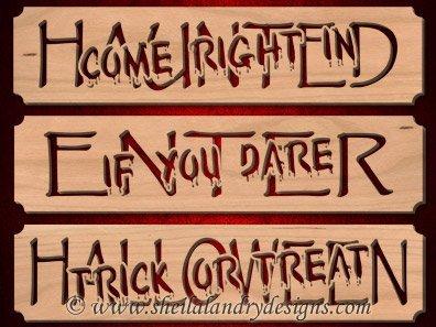 Haunted Halloween Laser Pattern