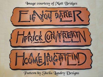 Haunted Halloween Scroll Saw Pattern