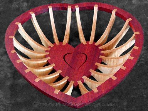 Heart Basket Scroll Saw Pattern