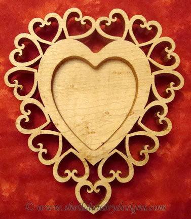 Heart Tealight Laser Pattern