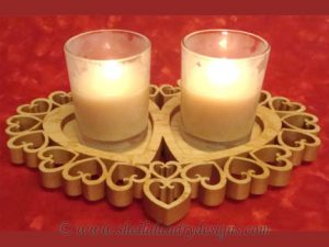 Heart Votive Candle Scroll Saw Pattern