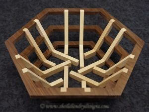 Hex Scroll Saw Basket Pattern