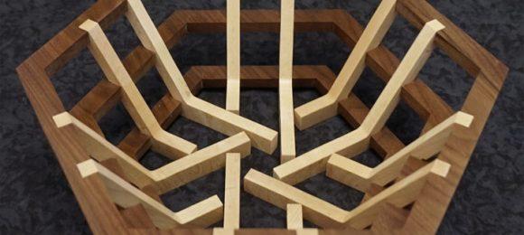 Hex Scroll Saw Basket Pattern