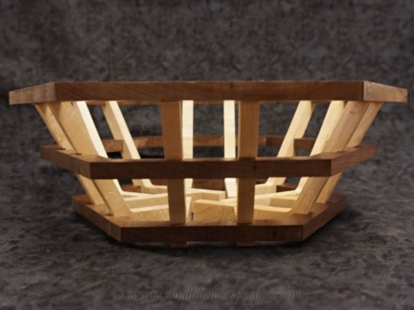 Hex Scroll Saw Basket Template