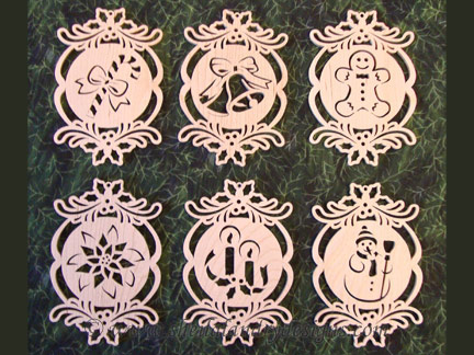 Holly Scroll Saw Ornaments Pattern