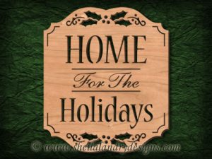 Home For The Holidays Scroll Saw Pattern