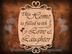 Home Love Laughter Scroll Saw Pattern