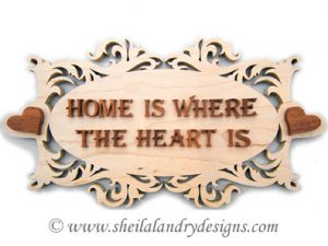 Home Is Where The Heart Is Scroll Saw Pattern
