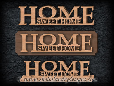 Home Sweet Home Scroll Saw Pattern