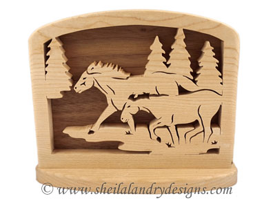 Horses Napkin Holder Scroll Saw Pattern