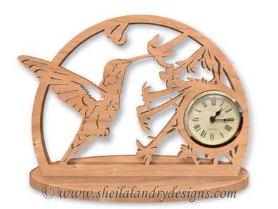 Hummingbird Woodworking Clock Plans