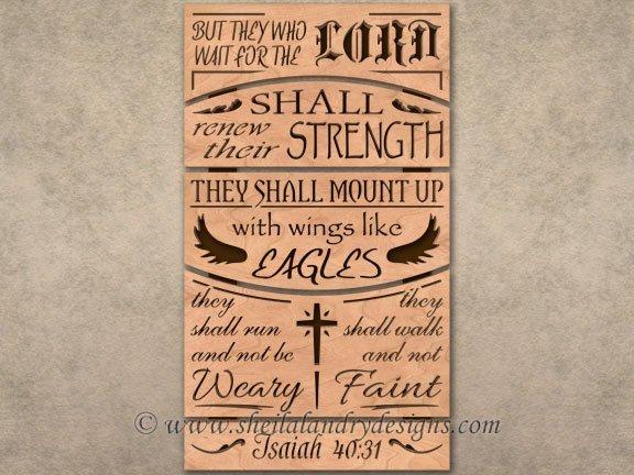 Isaiah Scroll Saw Bible Passage Pattern