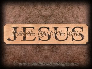 Jesus - I Am The Light Scroll Saw Pattern