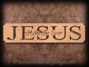 Jesus - I Am The Door Scroll Saw Pattern