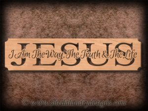 Jesus Way Truth & Life Scroll Saw Pattern