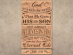 John 3:16 Scroll Saw Pattern