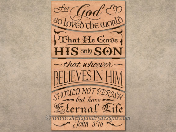 John 3:16 Scroll Saw Pattern