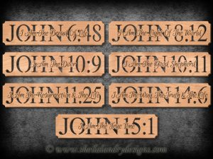 John Bible Verse Scroll Saw Patterns