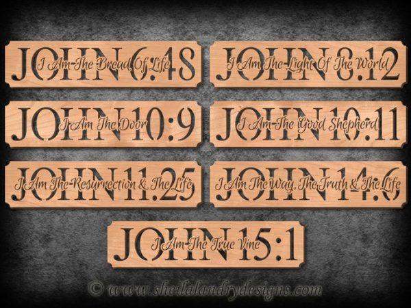 John Bible Verse Scroll Saw Patterns