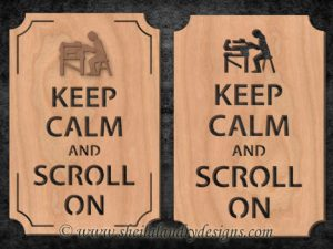 Keep Calm Scroll Saw Pattern