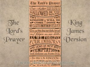 King James Lord's Prayer Scroll Saw Pattern