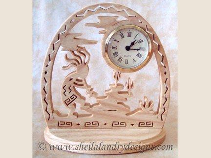 Kokopelli Clock Laser Pattern