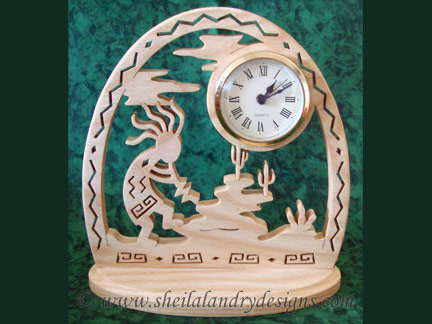 Kokopelli Clock Scroll Saw Pattern