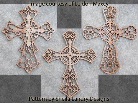 Large Laser Cross Pattern