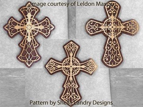 Large Scroll Saw Crosses Pattern