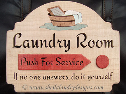 Scroll Saw Laundry Room Pattern