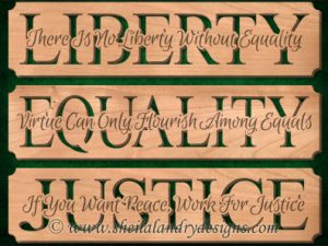 Liberty Equality Justice Scroll Saw Pattern