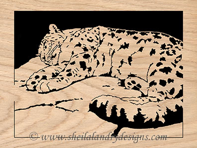 Snow Leopard Scroll Saw Pattern