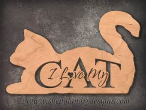 Love My Cat Scroll Saw Pattern